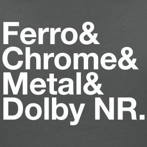 Ferro & Chrome & Metal & Dolby NR. - Women's V-Neck T-Shirt