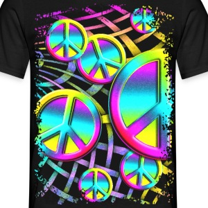 Colorful PEACE web - Männer T-Shirt