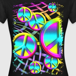 Colorful PEACE web - Frauen T-Shirt