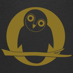 owl owlet night party moon T-Shirts - Men's V-Neck T-Shirt