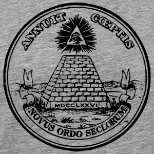 All seeing eye, pyramid, dollar, freemason, god Tee shirts - T-shirt Premium Homme