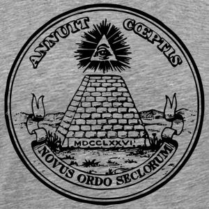 All seeing eye, pyramid, dollar, freemason, god T- - Men's Premium T-Shirt