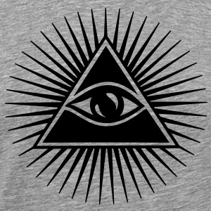 All seeing eye, pyramid, Freemason, God, Horus T-shirts - Herre premium T-shirt