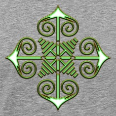 Chaos Star, Symbol of chaos, green / gold, Everything has meaning and magic power! Power symbol, Energy symbol Tee shirts