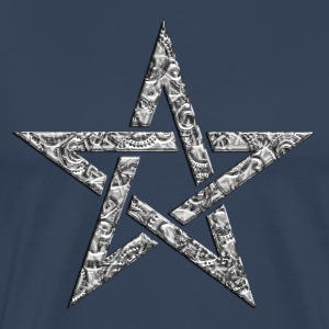 Star of the Magi - Pentagram - Sign of intellectual omnipotence and autocracy. digital, Blazing Star, powerful symbol of protection Tee shirts - T-shirt Premium Homme