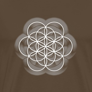 Feel the Harmony! EGG OF LIFE, digital, white, sacred geometry, energy, symbol, powerful, icon, T-shirts - Mannen Premium T-shirt