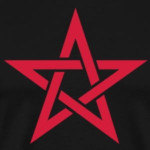 Star of the Magi - Pentagram - Sign of intellectual omnipotence and autocracy. Vector, Blazing Star, powerful symbol of protection T-Shirts - Men's Premium T-Shirt