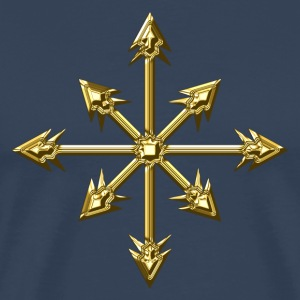 Chaos Star, Symbol of chaos, digital, everything has meaning and magic power! Power symbol, Energy symbol T-shirts - Mannen Premium T-shirt