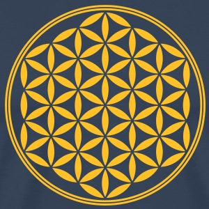Vector - Flower of Life - 02, 1c, sacred geometry, energy, symbol, powerful, healing, protection, cl T-shirts - Mannen Premium T-shirt