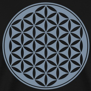 Vector - Flower of Life - 03, 1c, sacred geometry, energy, symbol, powerful, healing, protection, cl T-skjorter - Premium T-skjorte for menn