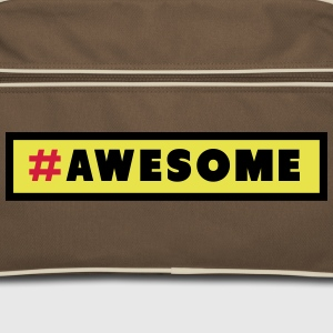 Awesome Hashtag Bags & backpacks - Retro Bag