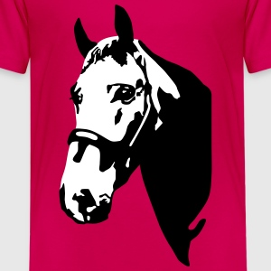 Hest, horse T-Shirts - Teenager premium T-shirt