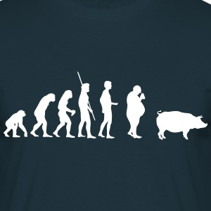 Evolution Pig  T-skjorter - T-skjorte for menn