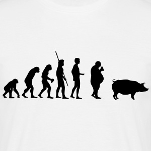 Evolution Pig  T-shirts - Herre-T-shirt