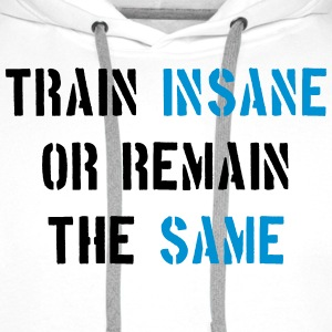 Train Insane or Remain the Same Hoodies & Sweatshirts - Men's Premium Hoodie