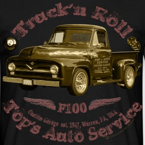truck n roll 1955 f100 pickup vintage - Men's T-Shirt