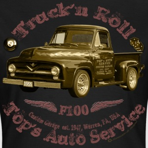 truck n roll 1955 f100 pickup vintage - Women's T-Shirt