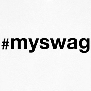 #myswag T-Shirts - Men's V-Neck T-Shirt