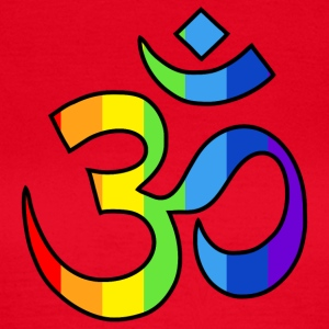 Yoga Om symbol in rainbow colors - Women's T-Shirt
