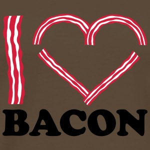 I Love Bacon T-shirts - Herre premium T-shirt
