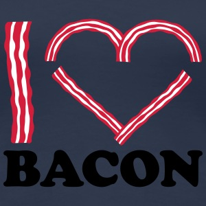 I Love Bacon T-skjorter - Premium T-skjorte for kvinner
