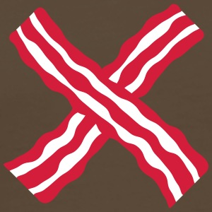 Bacon Cross T-skjorter - Premium T-skjorte for menn