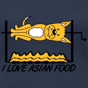 I Love Asian Food T-skjorter - Premium T-skjorte for kvinner