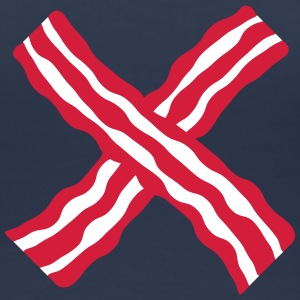 Bacon Cross T-shirts - Dame premium T-shirt