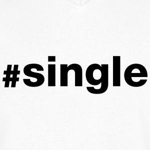 Hashtag Single T-skjorter - T-skjorte med V-utsnitt for menn
