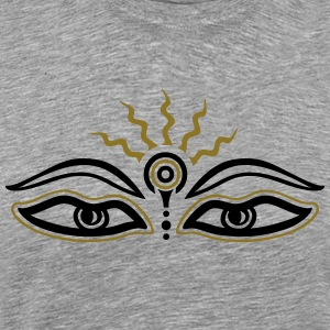 Buddha, third eye, symbol wisdom & enlightenment T-Shirts - Men's Premium T-Shirt
