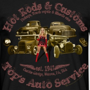 hot rods customs auto service 1947 vintage - Men's T-Shirt