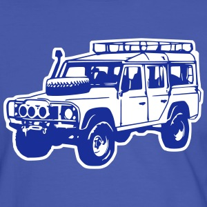 T-shirt: Land Rover Defender, Jeep, SUV - Men's Ringer Shirt