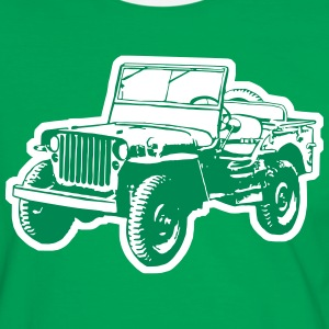 Willys Jeep Tee shirts - T-shirt contraste Homme