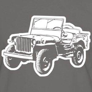 T-shirt: Willys Jeep - Men's Ringer Shirt