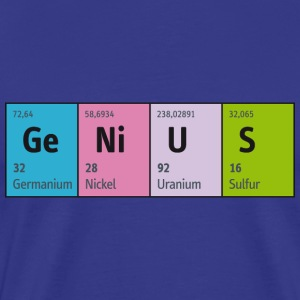 Periodensystem GeNiUS genial, Nerd is the new sexy - Männer Premium T-Shirt