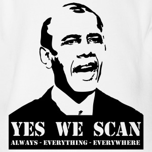 obama_yes_we_scan T-shirts - Kortærmet babybody, økologisk bomuld