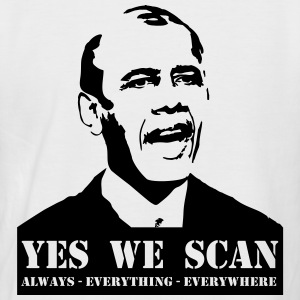 obama_yes_we_scan Camisetas - Camiseta béisbol manga corta hombre