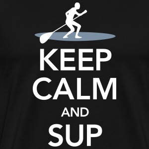 Keep Calm And SUP T-shirts - Premium-T-shirt herr