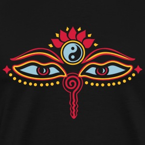 Buddha Eyes, Lotus, symbol wisdom & enlightenment T-Shirts - Men's Premium T-Shirt