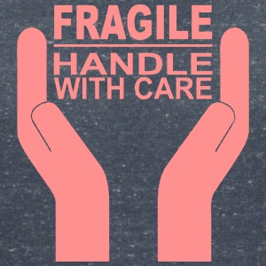 Fragile - Handle with care - Frauen T-Shirt mit V-Ausschnitt