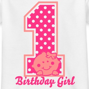 Ein Jahr - One Year - Birthday Girl Shirts - Kinderen T-shirt