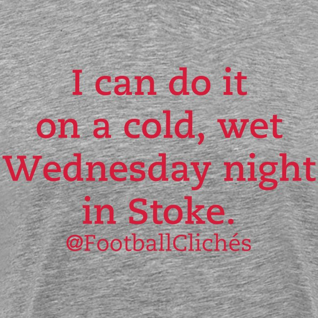Cold, Wet Wednesday Night In Stoke