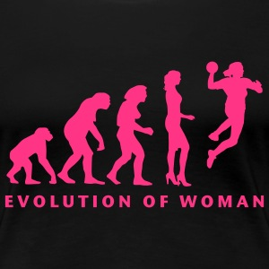evolution_handball_spielerin_1c T-Shirts - Frauen Premium T-Shirt