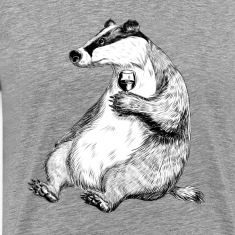 Badger with Wine T-Shirts