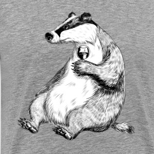 Badger with Wine Tee shirts - T-shirt Premium Homme