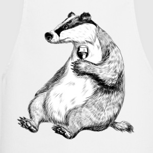 Badger with Wine  Aprons - Cooking Apron
