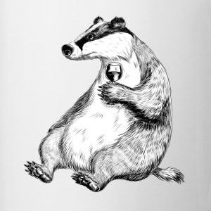 Badger with Wine Bottles & Mugs - Mug