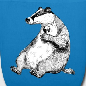 Badger with Wine Bags & backpacks - EarthPositive Tote Bag