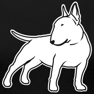 Bull Terrier cn_single_1c_4dark T-Shirts - Women's Premium T-Shirt