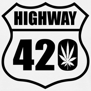 highway 420 feuille Tee shirts - T-shirt Homme